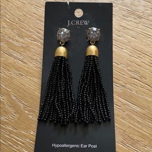 J. Crew statement earrings.